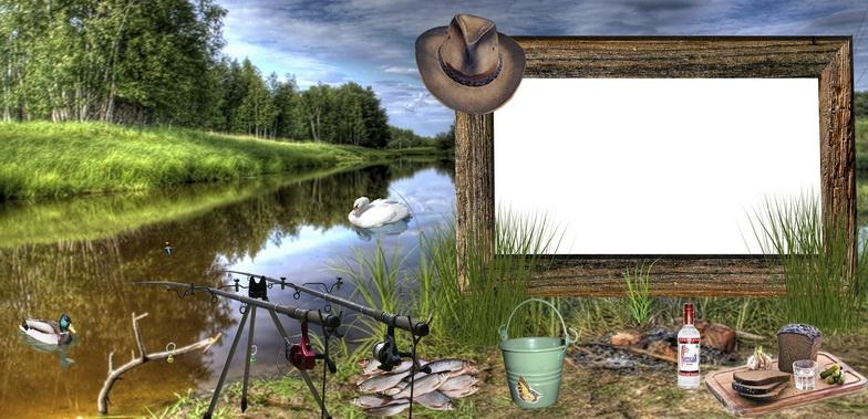 фоторамка охота и рыбалка